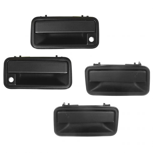 New Outside  Exterior Door Handle For Toyota Front /& Rear Black-set of 4 US Ship