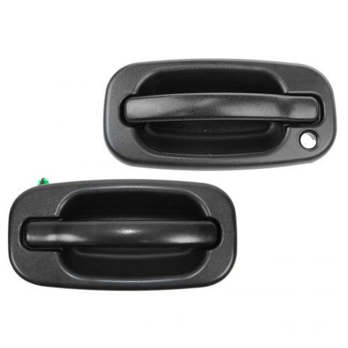 Door Handle Black Textured w// Plate Housing Exterior Rear RH Right for Chevy GMC