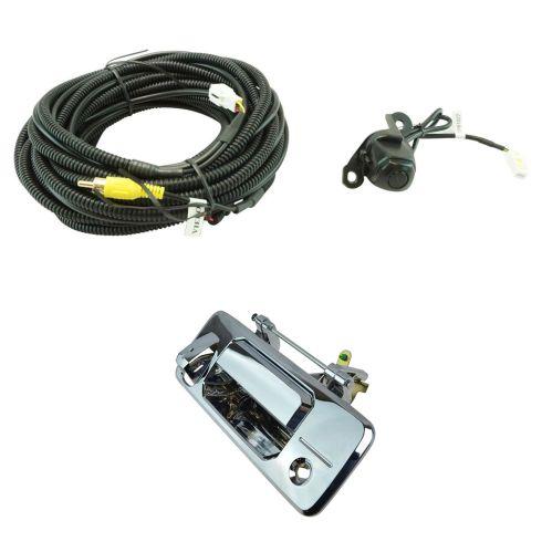 14-16 Toyota Tundra; 16 Tacoma Chrome Rear View Back Up Camera Upgrade Kit (Add on)