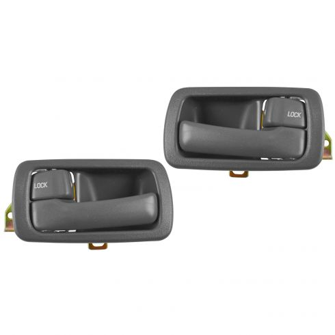 Rear Gray Door Handle LH /& RH Pair For 04-06 Tundra 01-07 Sequoia Inside Front