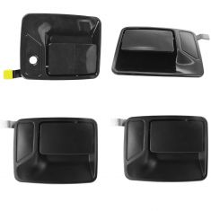 99-15 Ford Super Duty PU Black PTM Front & Rear w/DS Front Keyhole Kit (Set of 4)