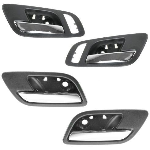 07-12 GM FS PU & SUV (w/Htd Seat & Memory) Front & Rear Inside Door Handle (Ebony & Chrome) Kit 4pc