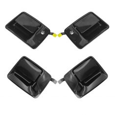 99-15 Ford Super Duty PU Black PTM Front & Rear Door Handle Kit (Set of 4)