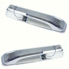05-10 Grand Cherokee; 06-10 Commander Chome Front Outside Door Handle (w/ Keyhole) Pair