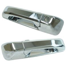 05-10 Grand Cherokee; 06-10 Commander Chome Front Outside Door Handle (w/o Keyhole) Pair