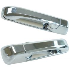 05-10 Grand Cherokee; 06-10 Commander Chome Rear Outside Door Handle Pair