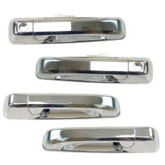05-10 Grand Cherokee; 06-10 Commander Chome Frt & Rear Outside Door Handle (w/ RF Key) Kit 4pc