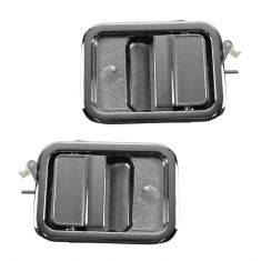 91-96, 03-07 Freightliner FLD Front Outer Chrome Door Handle PAIR