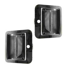 95-01 Kenworth W & T Models (w/Daylight Door) Outside Chrome Door Handle PAIR