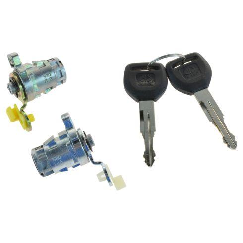 98-02 Accord; 99-04 Odyssey; 00-09 S2000; 01-05 Civic Front Door Lock Cylinders w/Keys SET