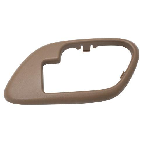 95-02 Chevy GMC C/K PU SUV Inside Door Handle Bezel TAN - RF = RR