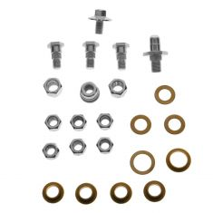 Door Hinge Pin & Bushing Kit (Pins, Bushings, Washers, Knurl Nut, Lock Nuts, & Bolt)