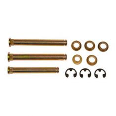 Door Hinge Pin & Bushing Kit (3 Pins, 5 Bushings, & 3 E-Clips)