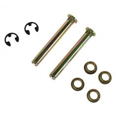 88-10 Ford, Lincoln, Mercury Upper & Lower Door Hinge Repair Kit (Pin, 2 Brass Bushing, E-Clip) (DOR