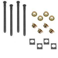 88-05 Caddy, Chevy, GMC Full Size PU, SUV Hinge Pin & Bush Kit (4 Pin, 4 Ret Clip, & 8 Bushings)(GM)