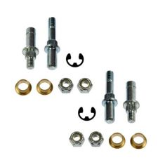 Door Hinge Pin & Bushing Kit (4 Pins, 4 Bushings, 4 Lock Nuts, & 2 E-Clip)