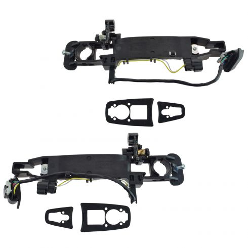 2008 Cadillac CTS, STS (w/Factory Remote Start) Outside Door Handle Bracket w/2 Connectors Pair (GM)