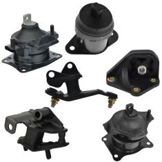 03-07 Honda Accord 2.4L AT Engine & Transmission Mount Set of 6