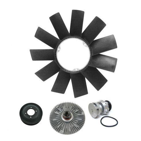Water Pump, Pulley, Fan Clutch & Blade Kit