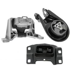 04-09 Mazda 3 w/2.0L; 04-08 3 w/2.3L Engine & Transmission Mount Set of 3