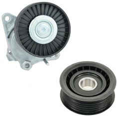 98-08 Chrysler, Mercedes Benz Multifit Serpentine Belt Tensioner & Idler Pulley Kit
