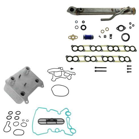 04-10 Ford E350, F250-F550SD 6.0L Diesel EGR & Oil Cooler Kit w/Gaskets UPGRADED