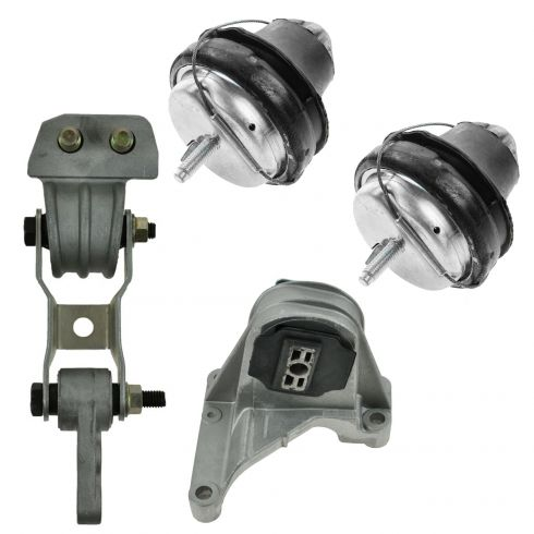 01-04 Volvo S60 2.3L; 01-02 V70 X/C; 03-07 XC70; 03-06 XC90 2.5L Engine Mount Kit (Set of 4)