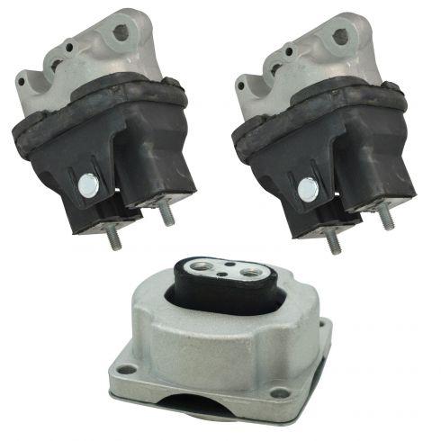 1AEEK00772-Dodge Chrysler Engine & Transmission Mount Kit 3 Piece Set