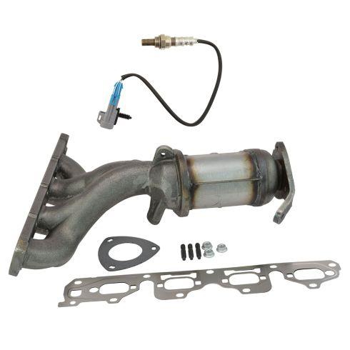 Exhaust Manifold & Converter w/ Oxygen Sensor Ki