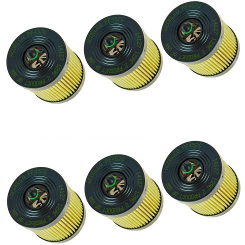 02-14 Buick, Chevy, GMC, Olds, Pontiac; 03-11 Saab Multifit 2.4L Eng Oil Filter (Set of 6)(AC Delco)
