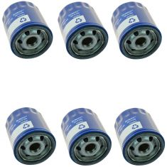 83-86 AMC; 76-12 GM; 81-86 Jeep; 05-06 Saab; 03-08 Isuzu Engine Oil Filter Set of 6 (AC Delco)