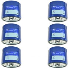 68-93 Buick; 66-07 Chevy; 66-07 GMC; 66-92 Olds; 70-97 Pontiac Eng Oil Filter Set of 6 (AC Delco)