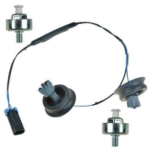 ACEEK00064-Chevy GMC Pontiac Cadillac Hummer Engine Knock Sensor & Harness  Kit Pair