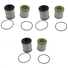 08-10 Ford F250 F350 Super Duty 6.4L Diesel Fuel Filter Set of 3 (Motorcraft)