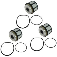 98-03 Ford Super Duty Van Truck 7.3L Diesel Fuel Filter Set of 3 (Motorcraft)