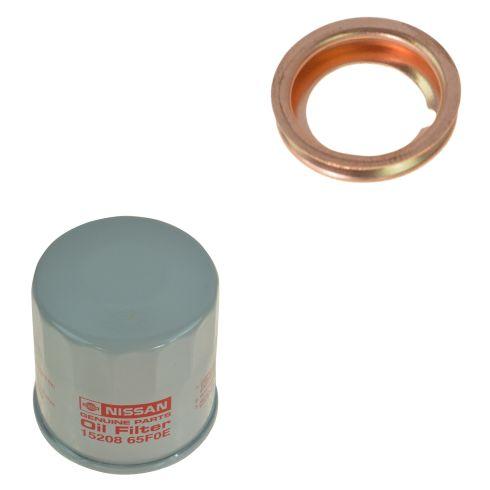 90-14 Infiniti; 08-15 Nissan Multifit Engine Oil Filter & Drain Plug Gasket Kit (Nissan)