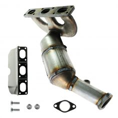 99-00 BMW 528i, 528iT REAR Exhaust Manifold w/Catalytic Convertor & Gasket Install Kit RH