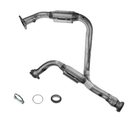 1AEMK00177-Chevy GMC Cadillac Exhaust Pipe with Catalytic Converter Pair