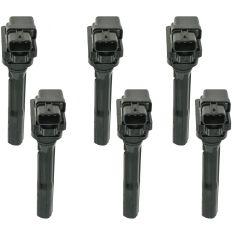 99-04 Chevy Tracker 98-05 Suzuki Multifit 6 Cyl Ignition Coil (SETof 6)