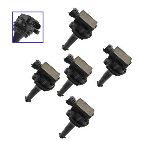 99-07 Volvo C V S 60 70 80 XC90 2.4L 2.5L Ignition Coil Set of 5