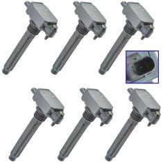 11-15 Chrysler, Dodge, Jeep Multifit 3.6L Ignition Coil Set of 6