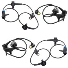 GM Truck Multifi Front & Rear Wheel Speed ABS Sensor 4pc Kit