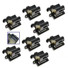 99-07 Buick Cadillac Chevy GMC Hummer Isuzu Ignition Coil (Square Style) (Set of 8) (AC DELCO)