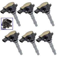 07-08 Sprinter 2500, 3500; 05-01 Mercedes Benz Multifit Ignition Coil Set of 6(Delphi)