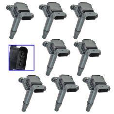 99-04 Audi A4, A6, A8, RS6, S6, S8 w4.2L Ignition Coil Set of 8 (Delphi)