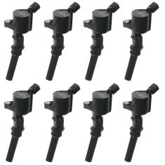 97-08 Ford Lincoln Mercury Multifit Ignition Coil with Boot & Spring (SET OF 8(MOTORCRAFT)