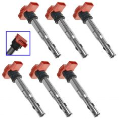 05-14 Audi A4, A5, A6, A7, A8, Q5, Q7, R8, S4, S5, S6, S8, SQ5 Touareg Ignition Coil Set of 6 (VW)