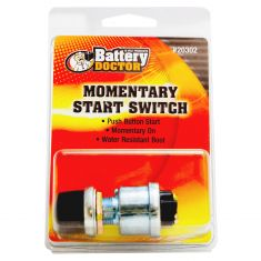Heavy Duty Die Cast Push-On Starter Switch w/Cap & Momentary On