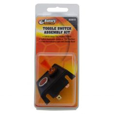 2 Position (On/Off) Toggle Switch w/Super Bright Red Indicator Light Kit & Mnting Bracket (12V/20A)