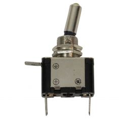 2 Position (On/Off) Heavy Duty AMBER LED Illuminated Toggle Switch (12V/25A) 1/2 Inch Mtg Hole